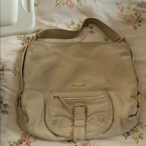 Michael Kors cream leather shoulder bag!